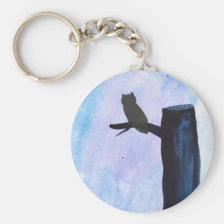 Perched Owl Keychain