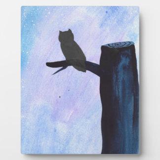 Perched Owl Plaque