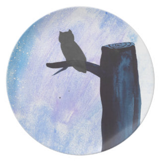 Perched Owl Plate
