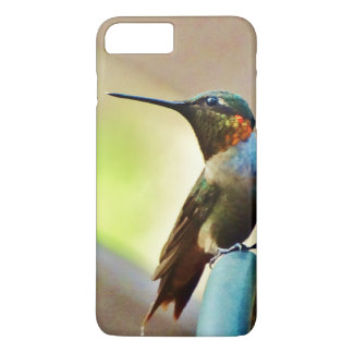 Perched Ruby and Green  little Hummingbird iPhone 8 Plus/7 Plus Case