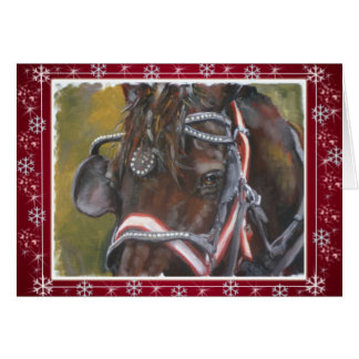 Percheron Christmas Card red