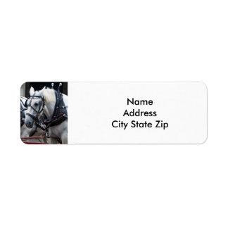 Percheron Draft Horse Return Address Label