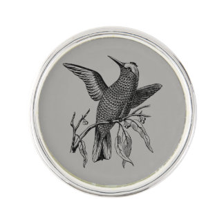 Perching bird lapel pin