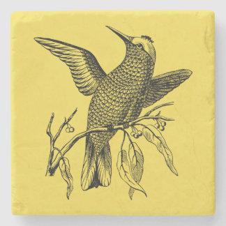 Perching bird stone coaster