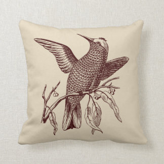 Perching bird throw pillow
