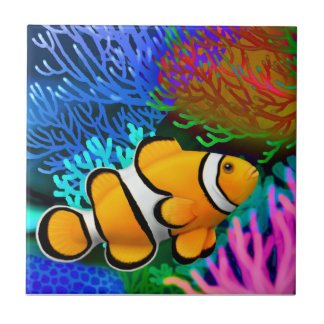 Percula Clown Anenome Fish Tile