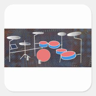 Percussion Color Square Sticker