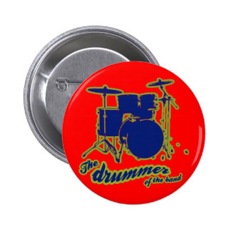 percussion drums ~ drummer 2 inch round button