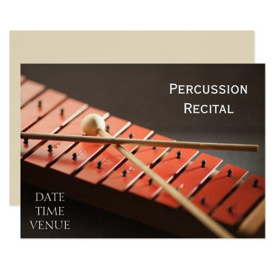 Percussion Recital Card