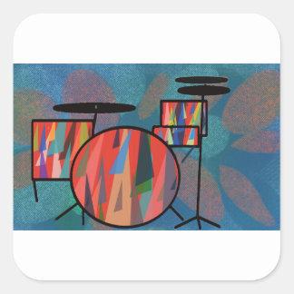 Percussion Square Sticker
