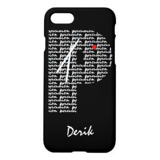 Percussion Text Letter P iPhone 7 Case