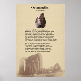 Percy Shelley's Ozymandias Poem Poster