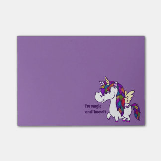 Percy the Polished Unicorn Post-it Notes