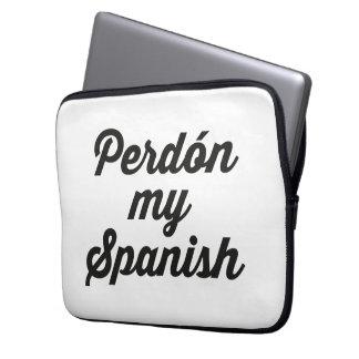 PERDON MY SPANISH LAPTOP SLEEVE