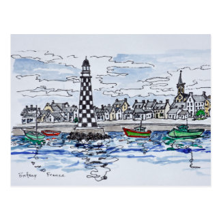 Perdrix Lighthouse, Loctudy | Brittany, France Postcard