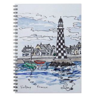 Perdrix Lighthouse, Loctudy | Brittany, France Spiral Notebook