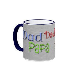 Père de bruit de papa de papa mug ringer