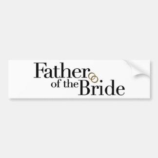 Père de la jeune mariée adhésifs pour voiture