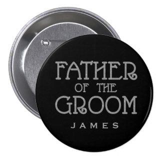 Père de Pin d'étiquette de nom de scintillement de Macaron Rond 7,6 Cm