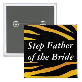 Père d'étape de jeunes mariées badges avec agrafe