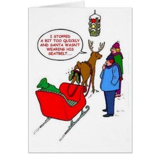 Père Noël a collé en Rudolf Carte De Vœux