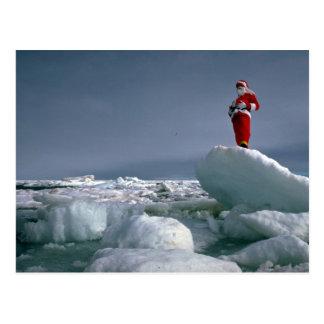 Père Noël au poteau Carte Postale