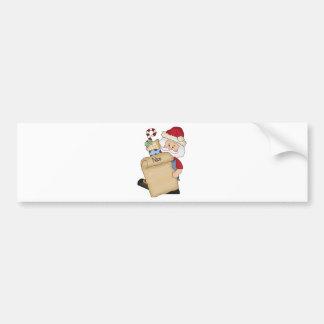 Père Noël avec Nice la liste Autocollant De Voiture