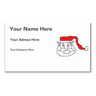 Père Noël Carte De Visite Standard
