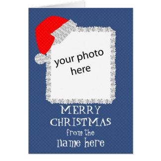 père Noël casquette-ajoutent votre famille Carte De Vœux