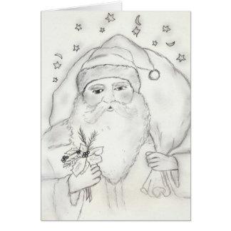 Père Noël démodé Carte De Vœux