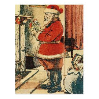 Père Noël démodé Carte Postale
