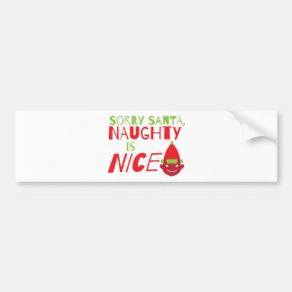 Père Noël désolé VILAIN est gentil ! avec la grima Autocollant De Voiture
