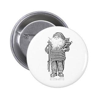 Père Noël élégant dans le dessin au crayon de chan Badge