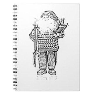 Père Noël élégant dans le dessin au crayon de chan Carnet