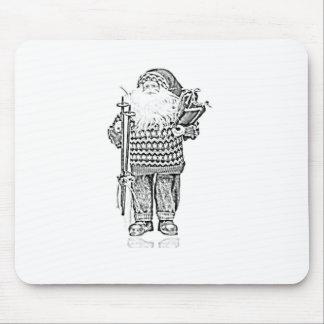 Père Noël élégant dans le dessin au crayon de chan Tapis De Souris