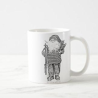 Père Noël élégant dans le dessin au crayon de chan Mugs À Café