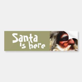 père Noël est ici Autocollant De Voiture