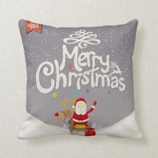 Père Noël et coussin de Noël de renne