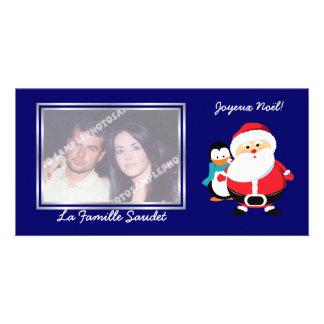 Père Noël et Manchot  Santa Claus cartes photo Picture Card