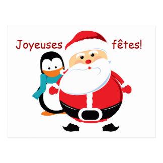 Père Noël et Manchot Santa Claus cartes postales Post Cards