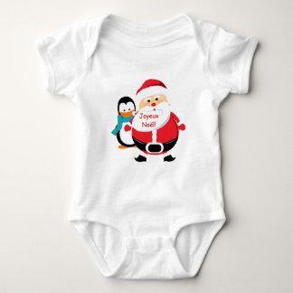 Père Noël et Manchot Santa Claus infant t-shirt