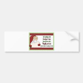 Père Noël faisant Noël de liste Autocollant De Voiture