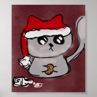 Père Noël Kitty Poster