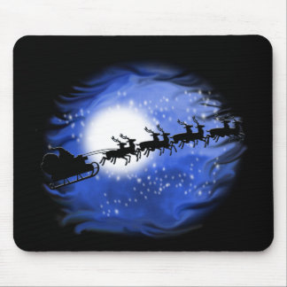 Père Noël la nuit Tapis De Souris