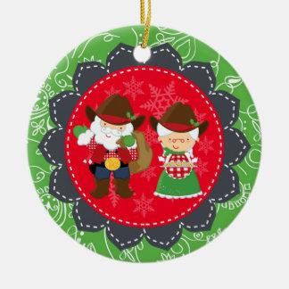 Père Noël occidental, ęr ornement de Noël de Mme
