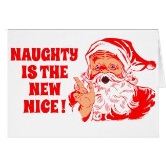 Père Noël vintage, vilain est le nouveau gentil Cartes