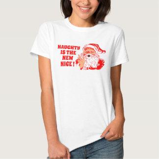 Père Noël vintage, vilain est le nouveau gentil Tee Shirt