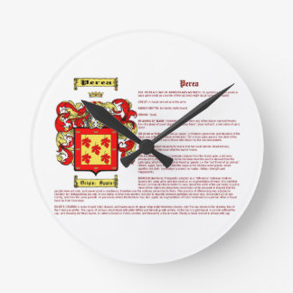 Perea (meaning) round clock