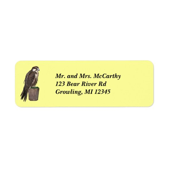 Peregrine Falcon Address Avery Label Return Address Label
