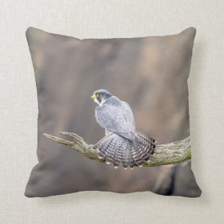 Peregrine Falcon at the Palisades Interstate Park Throw Pillow